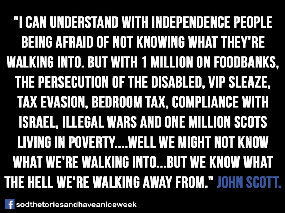 Why I'm pro Scots Independence.