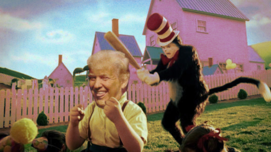 CAT IN THE HAT DONALD TRUMP. #WorldPoetryDay